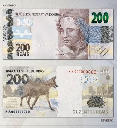 Banco Central divulga nota de R$ 200
