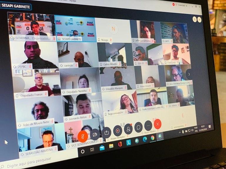 Reunião do COE para deliberação de novas atividades na retomada no Piauí (Reprodução/ Instagram)