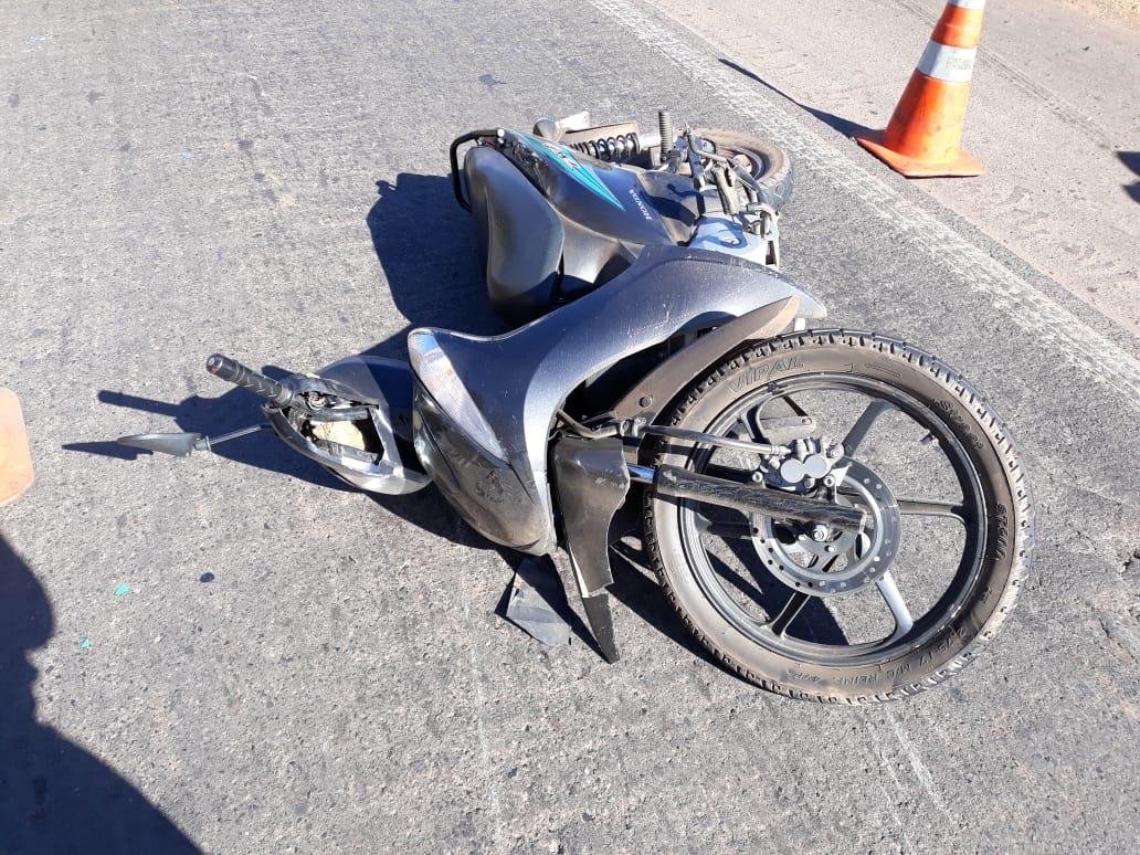 Vítima estava em uma moto modelo Honda Biz