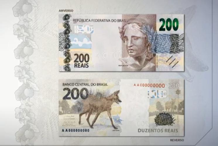 Cédula de R$ 200 é lançada nesta quarta-feira (02) e colocada em circulação - Foto: Reprodução/Banco Central