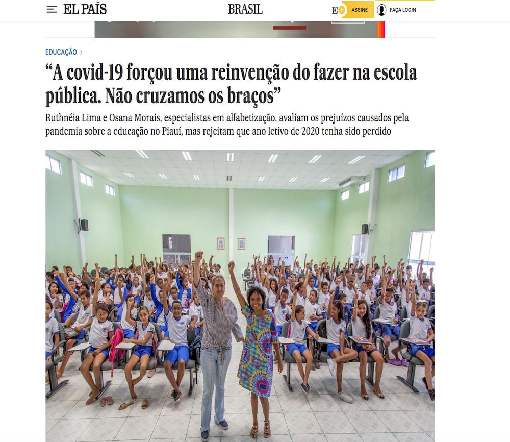 Matéria foi publicada no site El País Brasil