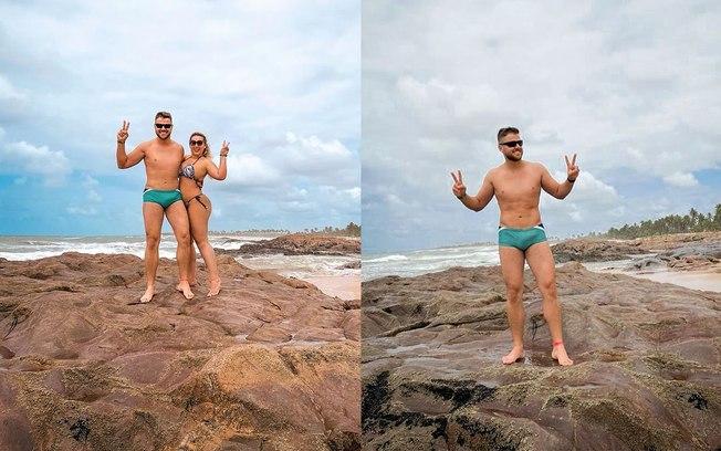 Zé Neto chama atenção nas redes sociais por volume em foto de sunga (Reprodução/ Instagram)