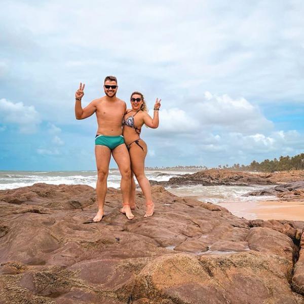 Zé Neto e a esposa