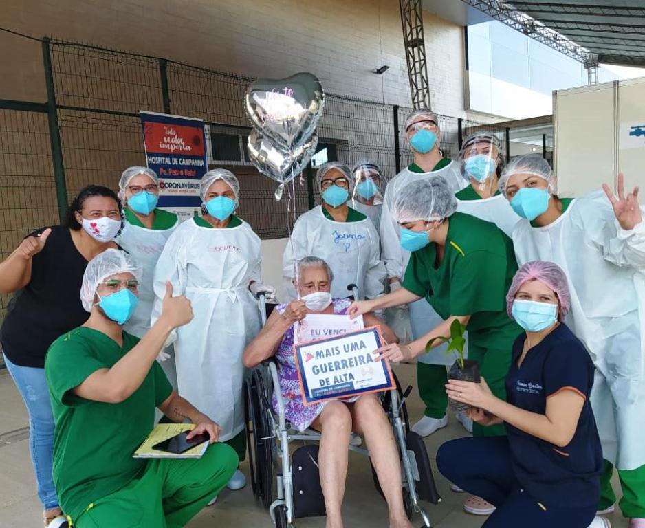 Hospital de Campanha fará evento para comemorar alta de pacientes / Crédito: Ascom