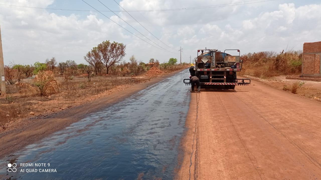 Obras de asfaltamento da PI-392 iniciaram na terça-feira (22)Obras de asfaltamento da PI-392 iniciaram na terça-feira (22)