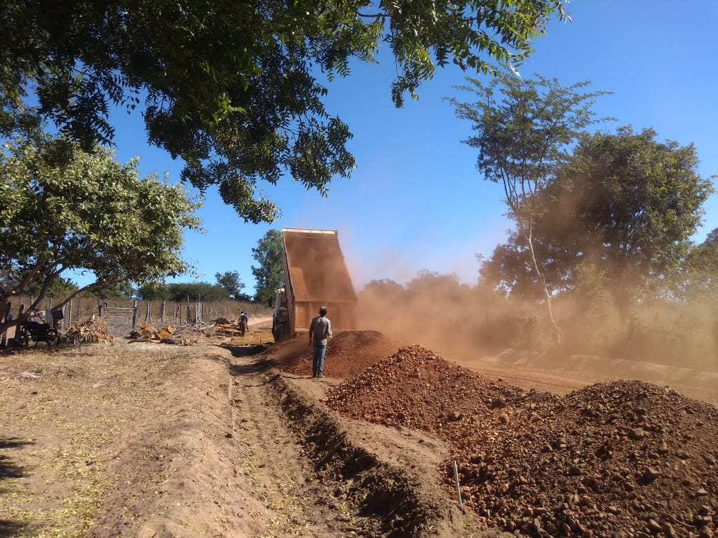 Barragem Atalia - obras foram retomadas pelo IDEPI