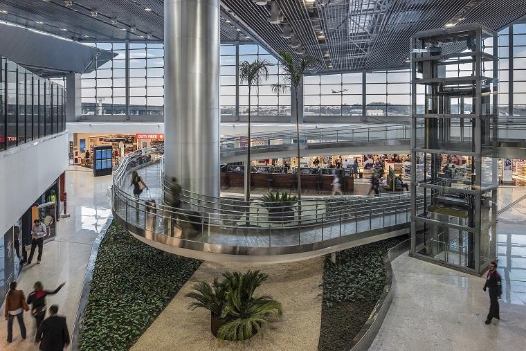 Aeroporto de Guarulhos recebeu chancela internacional por adoção de medidas de prevenção contra a Covid-19. Crédito: GRU