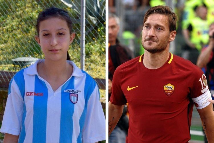 Atleta recebeu mensagem do ex-craque Francesco Totti.