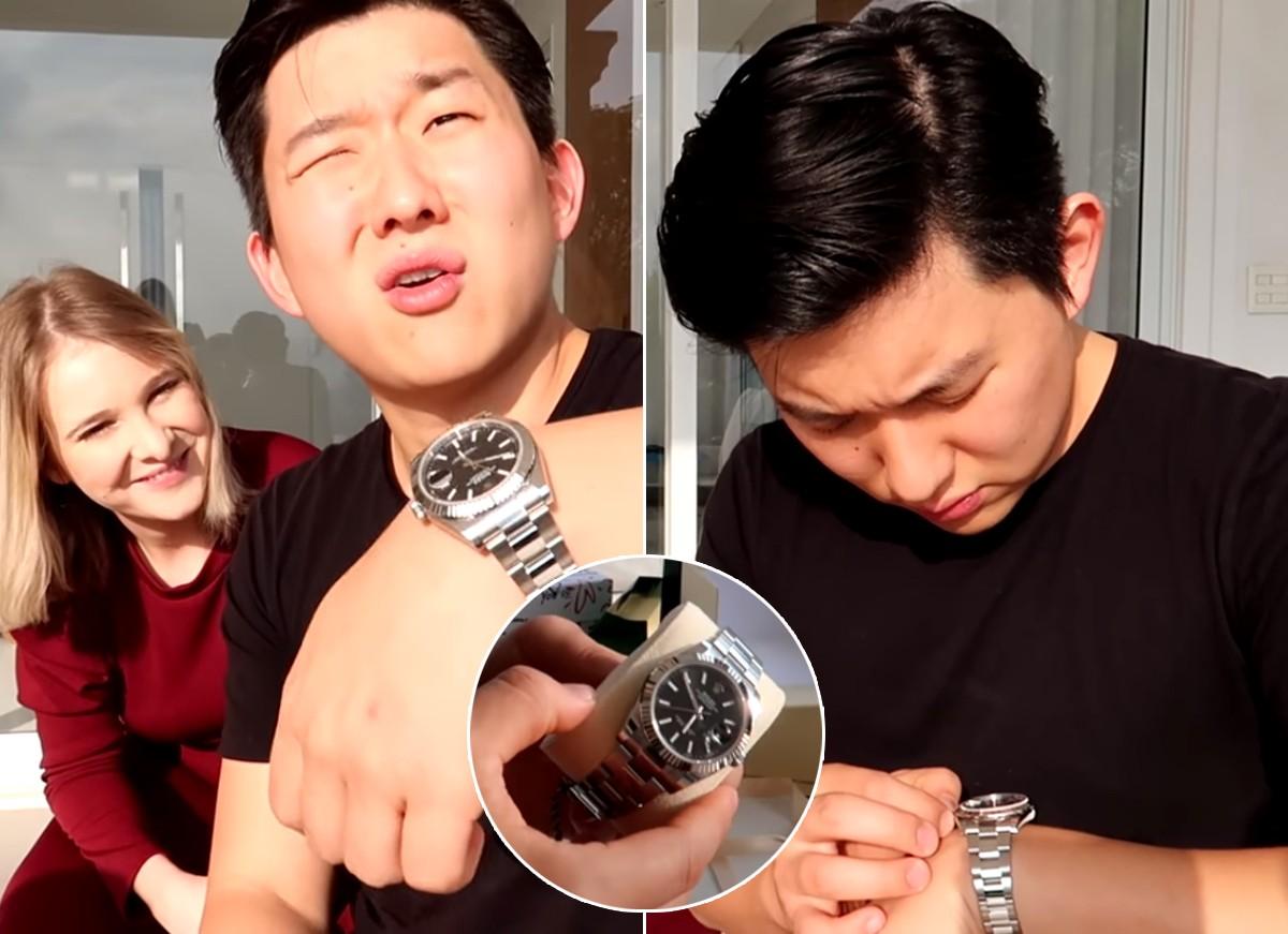 Pyonge Lee ganha relógio de luxo de Sammy Lee