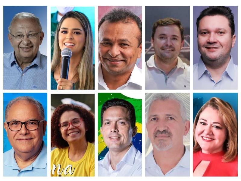 Candidatos à Prefeitura de Teresina que estarão no debate (Portal Meio Norte)