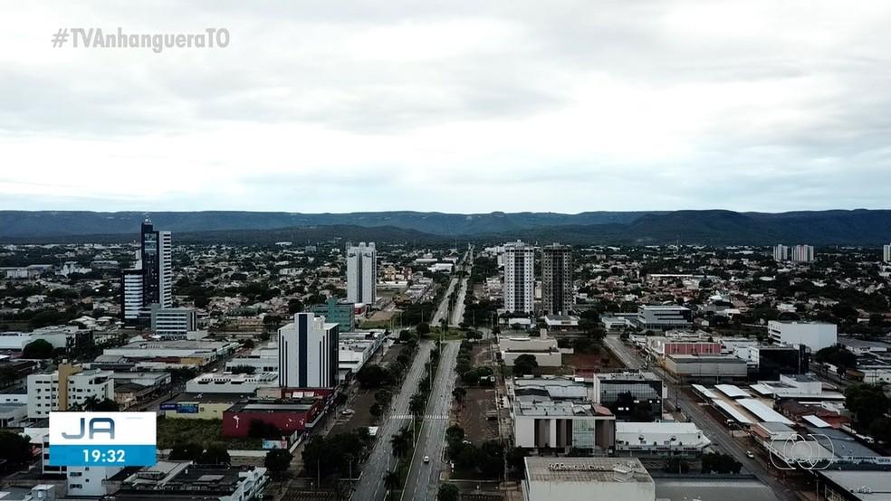 Vista da regiao central de Palmas