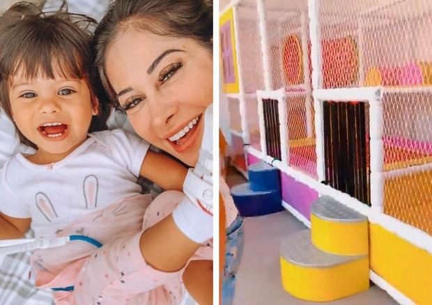 """Mayra Cardi constrói """"parque de shopping"""" para filha na casa nova - Imagem 1"""