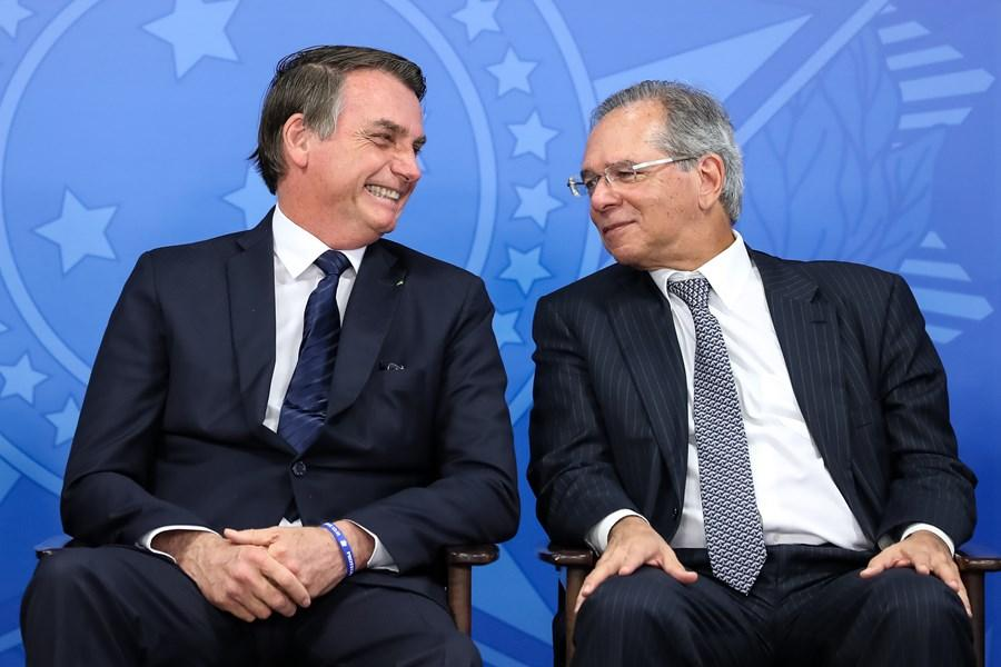 Presidente Jair Bolsonaro e Ministro da Economia Paulo Guedes - Foto: Marcos Corrêa/PR