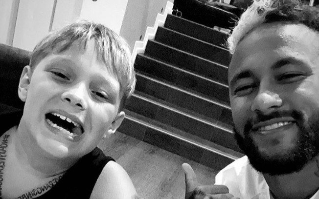 Davi Lucca esta com o pai, Neymar-Foto: Instagram