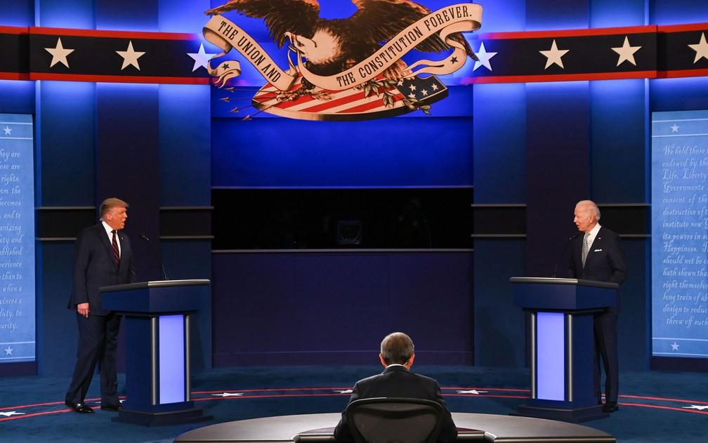 Trump e Biden em primeiro debate nos EUA - Foto: Reprodução