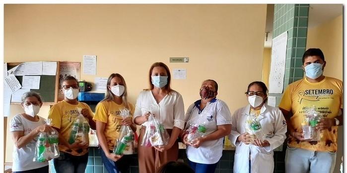 Secretaria de Saúde realizou entrega de kits de higiene