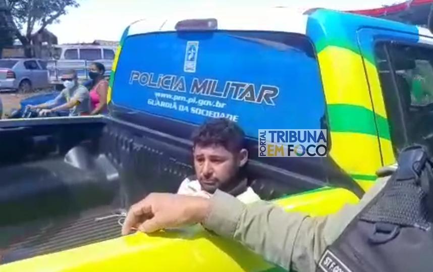 Homem é preso por agredir a esposa em São Miguel do Tapuio (Reprodução/ Tribuna em Foco)
