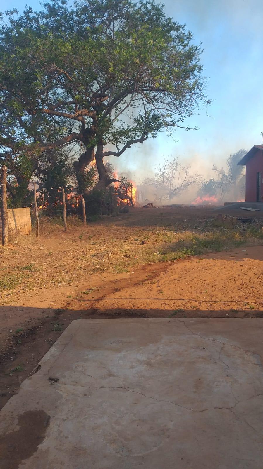 Incêndio ameaça atingir casas e é controlado por moradores em Picos - Imagem 3