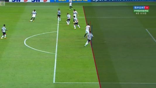 Gol do São Paulo foi considerado irregular pelo VAR/Reprodução Premiere