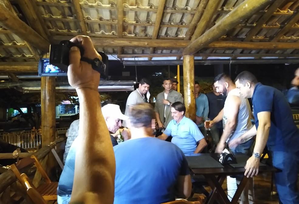 Bolsonaro foi a bar em Eldorado, SP - Foto:Rinaldo Rori