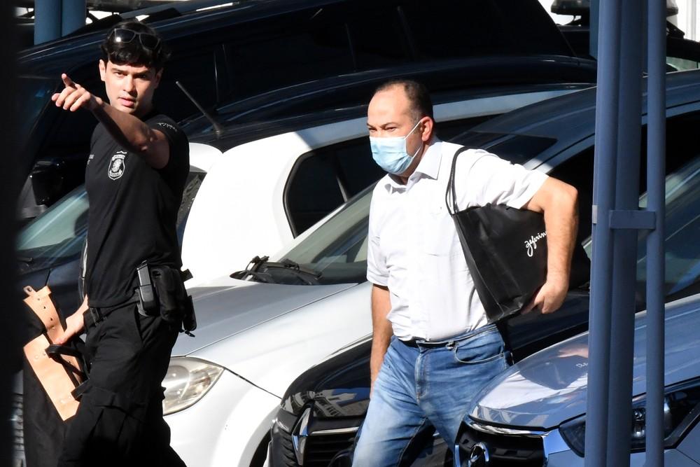 Pastor Everaldo, presidente nacional do PSC, ao ser preso — Foto: Alexandre Brum/Enquadrar/Estadão Conteúdo