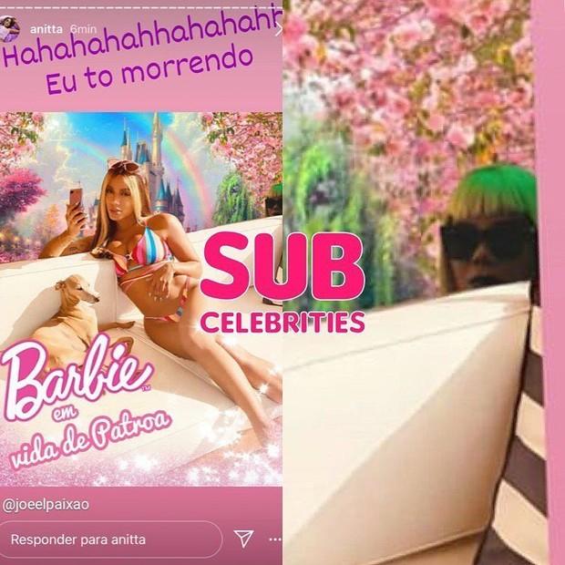"""Anitta é detonada ao posar de """"Barbie"""" com Ludmilla ao fundo em foto - Imagem 2"""