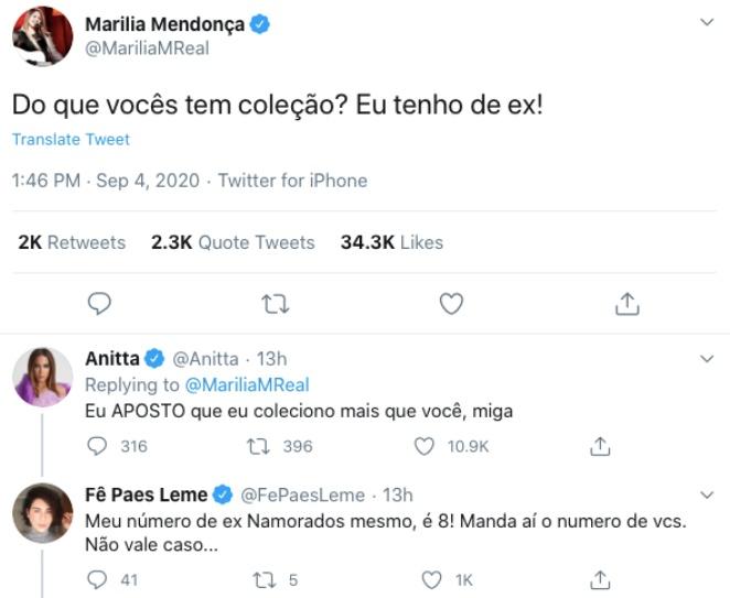 """Marília Mendonça fala de ex e Anitta alfineta: """"coleciono mais"""" - Imagem 2"""