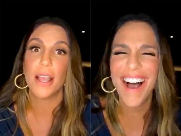 Cantora ficou de sai justa mas respondeu perguntas indiretas em live-Foto: Instagram