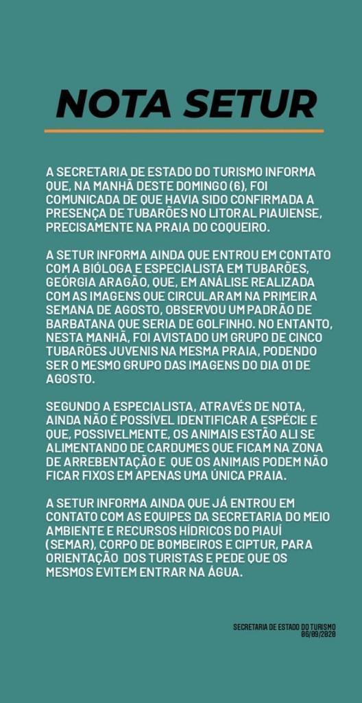 Secretaria diz que banho de mar deve ser evitado no litoral do Piauí - Imagem 2