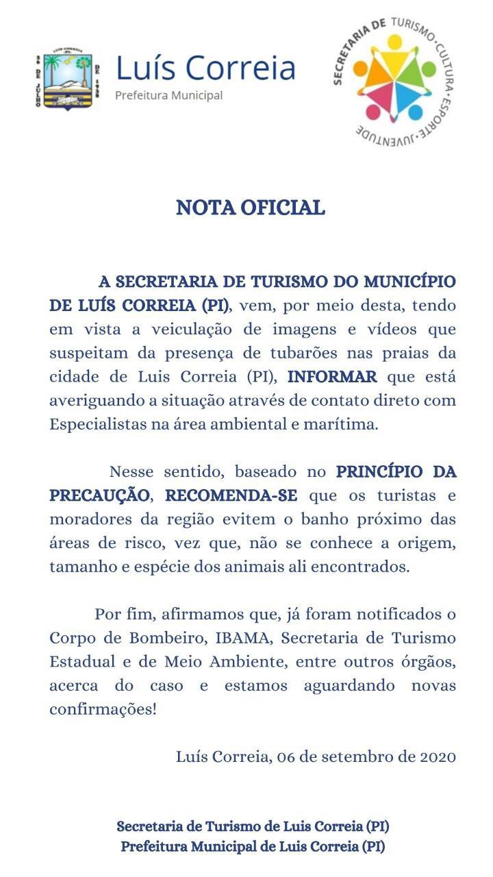 Secretaria diz que banho de mar deve ser evitado no litoral do Piauí - Imagem 1