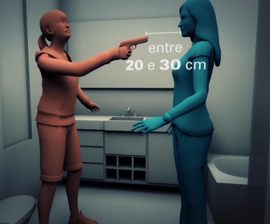 Adolescente ficou entre 20cm a 30cm de distância de Isabele