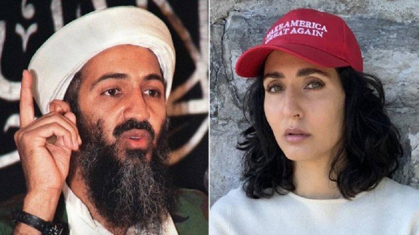 Bim Laden e a sobrinha-Foto: AFP