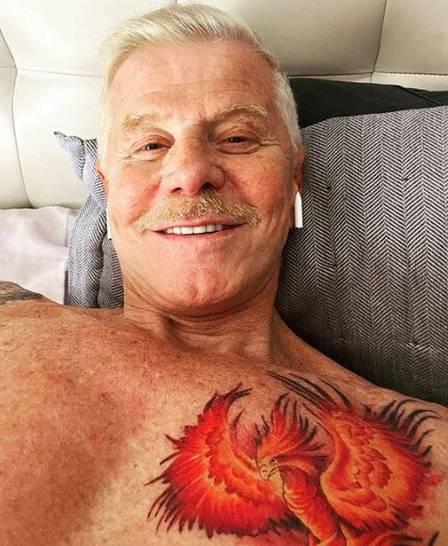 Miguel Falabella tatuou uma fênix no peito Foto: reprodução/ instagram