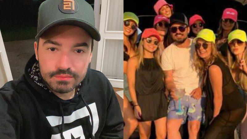 Fernando apareceu rodeado de mulheres durante viagem