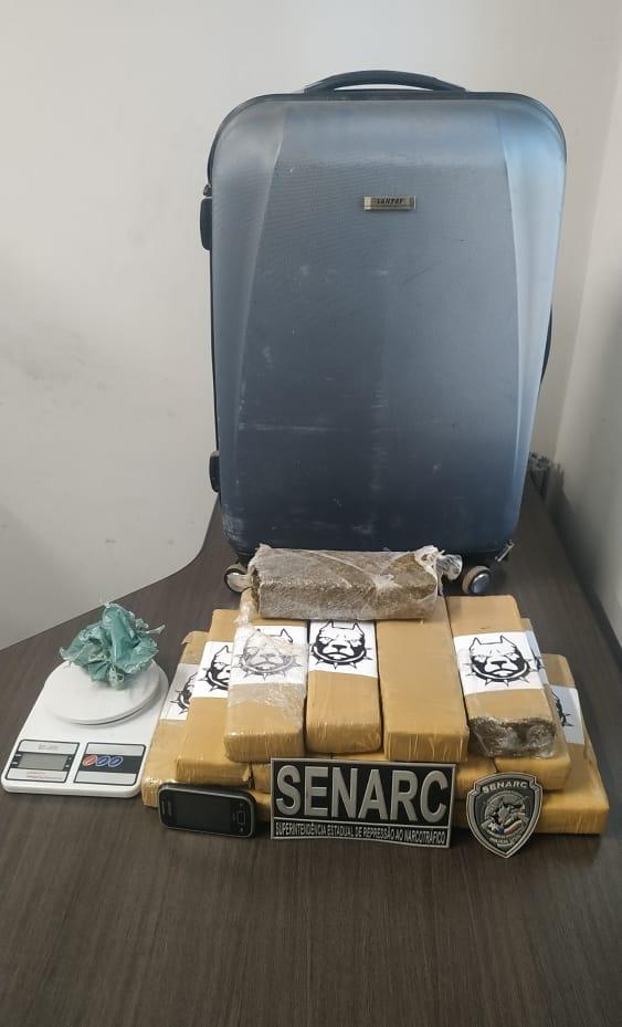 Traficante foi preso em flagrante em Timon (Divulgação)