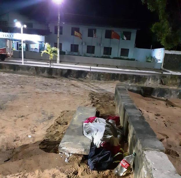 ocal onde Márcio Nascimento dos Santos foi encontrado.(Foto: Jornal da Parnaíba)