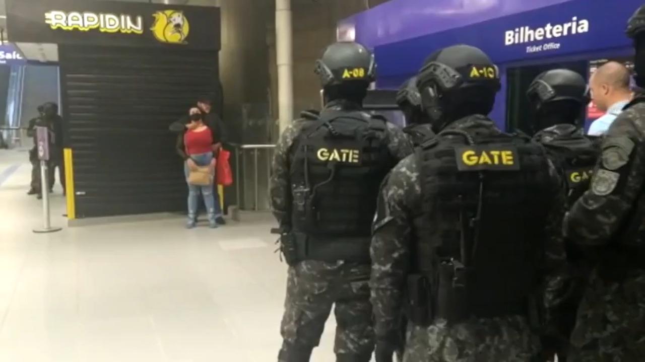 Piauiense foi mantida como refém em estação de metrô em São Paulo (Reprodução)