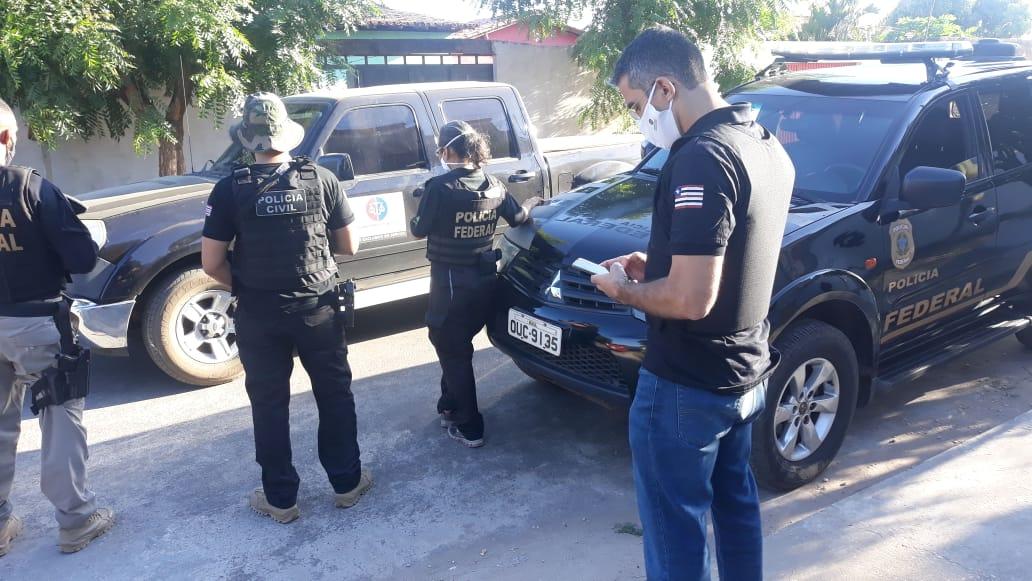 Investigado de operação da PF é preso na cidade de Timon (Divulgação)