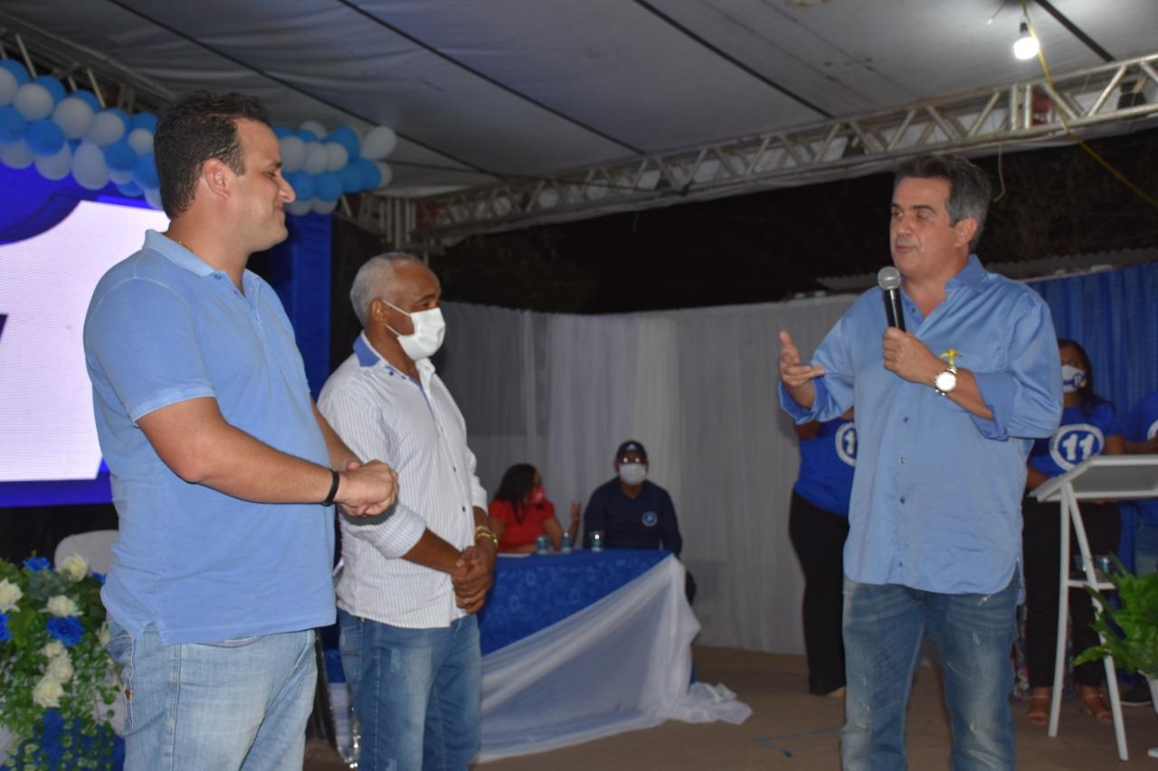 Senador Ciro Nogueira participou da convenção que homologou a candidatura de Diego Teixeira e Mateus Vilarinho