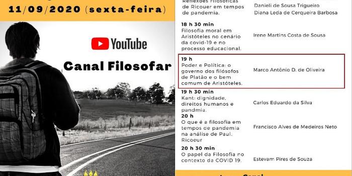 Acadêmico de Coivaras, Marcos Antonio Damasceno Oliveira, participará do Colóquio Filosofar É preciso?!