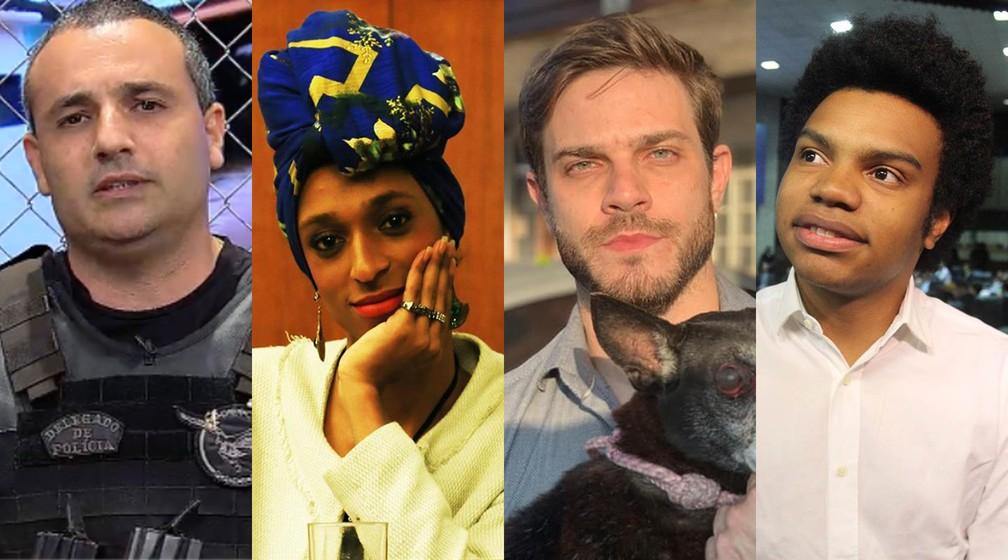 Vereadores eleitos em São Paulo: Delegado Palumbo, Erika Hilton, Felipe Becari e Fernando Holiday