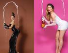 """Com taça, Gkay recria famosa foto de Kim Kardashian: """"Feliz 2021"""""""