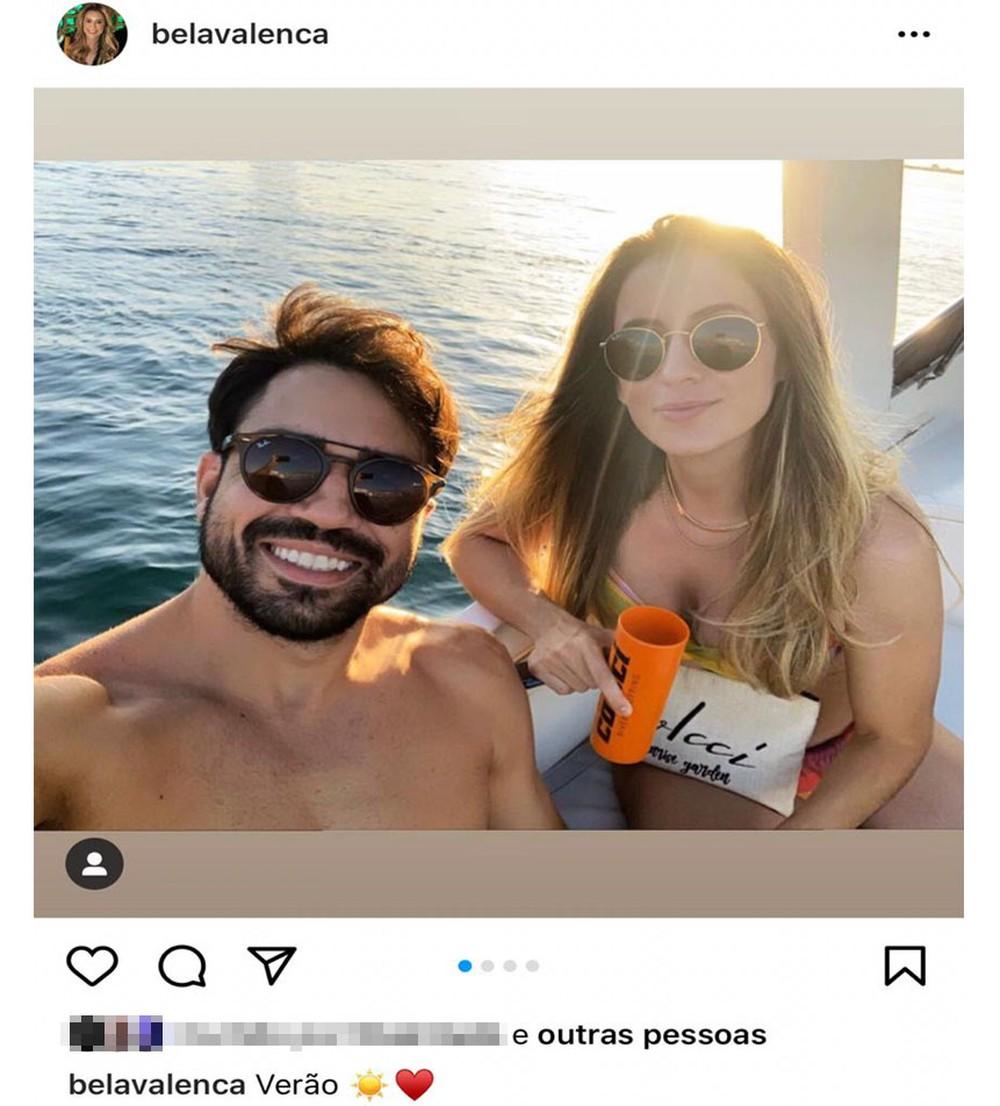 Mulher postou foto com o namorado horas antes do crime - Foto: Instagram