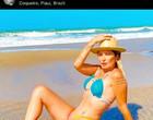 Antônia Fontenelle chama atenção por fotos de biquíni em férias no PI