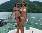 Vera Viel posa ao lado da filha em barco e fãs elogiam