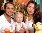 Thammy e Andressa comemoram 1 ano do filho com festa do Rei Leão