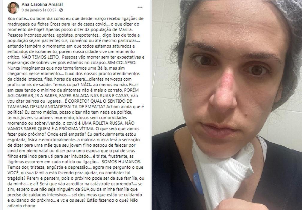 """Médica desabafa sobre falta de leitos para covid: """"Pessoas vão morrer' - Imagem 1"""