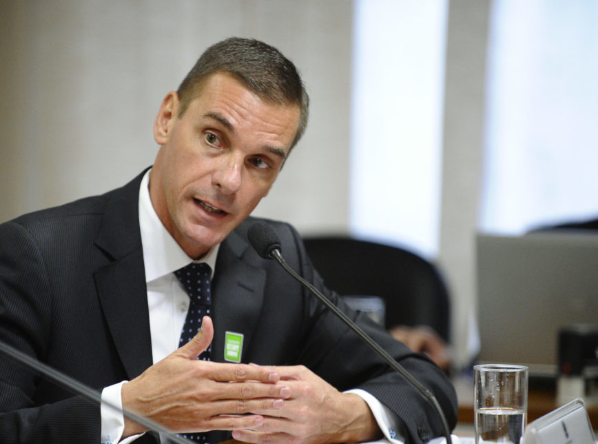 O presidente do Banco do Brasil, André Brandão, que está no cargo há 5 meses - Foto: Edilson Rodrigues/Agência Senado