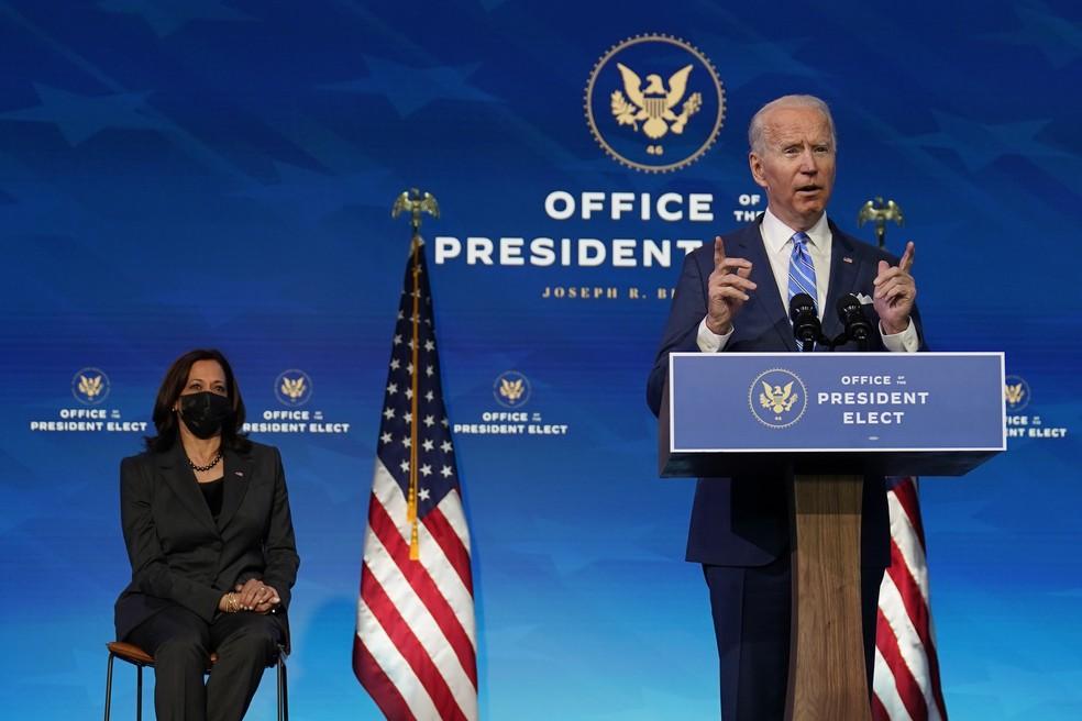 Joe Biden anuncia pacote de US$ 1,9 trilhão para combater a Covid-19 Foto: AP