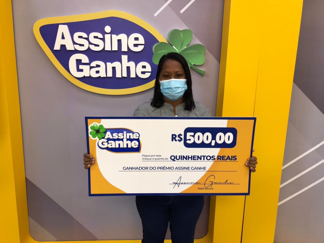 Raiana foi a 107º sorteada no Assine Ganhe